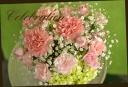 バラとカーネーションの母の日アレンジメント♪