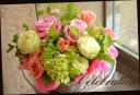 バラと季節の花のアレンジメント 298