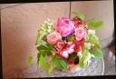 ピンク系 季節の花で アレンジメント 309