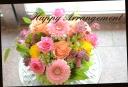 ピンク系 バラと季節の花のアレンジメント 326