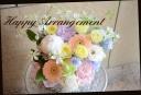 淡い色目で 季節の花のアレンジメント 328
