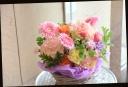 季節の花で パステル系 アレンジメント 341