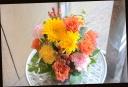イエロー系 バラと季節の花のアレンジメント 362