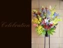 百合と季節の花で 華やかなスタンドフラワー 371
