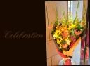 向日葵と季節の花で 華やかな花束 73