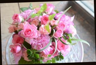 バラをメインに ピンク系 アレンジメント 383