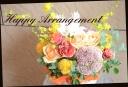 イエロー系 バラと季節の花のアレンジメント 448