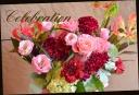 赤・ピンク系 バラと季節の花のアレンジ 449