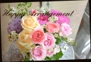 ピンク系 バラと季節の花のアレンジメント 457