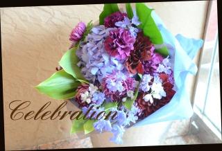 ブルー・パープル系 季節の花束 88