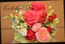 バラメインに 赤ピンク系 季節のアレンジ 511