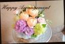 バラと季節の花で パステル系アレンジメント 514