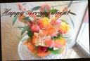 オレンジ系 季節のアレンジメント 516