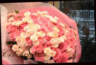 バラいっぱいのプレミアムブーケ 94