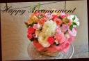 バラと季節の花のアレンジメント 547