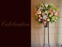 お祝いの花 百合と季節花のスタンドフラワー 549