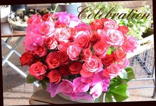赤・ピンク系 バラいっぱいのアレンジメント 556
