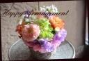 ガーベラと季節の花のアレンジメント 567