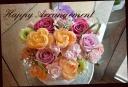 バラと季節の花で パステルアレンジメント 570