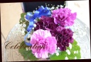 メモリーボックス 幸せの青い花 ライラック柄