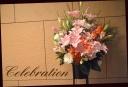 お祝いの花 ピンク系 スタンドフラワー 582