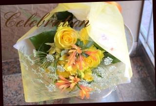 イエロー系 季節の花でおまかせ花束 106
