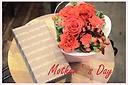 マネケンワッフルと赤バラのアレンジセット C2
