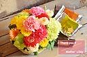 カラフルなお花で!バスケットとワッフルセット