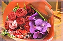 赤バラでオシャレに 品のある花束