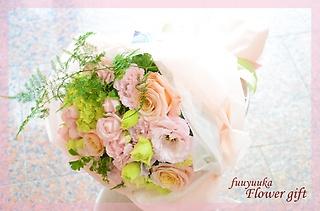 ふんわりと柔らかいイメージで♪淡い色の花束