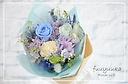 花束タイプのプリザ ♪ 『シャルールL ブルー』