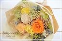 花束タイプのプリザ ♪ 『シャルールL オレンジ』