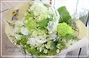白グリーンで爽やかに♪ 可愛い花束