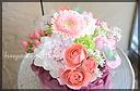 ピンク系 ガーベラと季節の花々のアレンジ