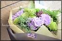 パープル&グリーンの大人っぽい花束