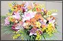 華やかな御祝のスタンド花