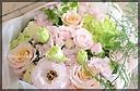 ペールピンクのふんわり花束