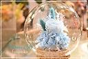 プリザ / ガラスドーム ブルー
