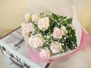 ピンクバラ花束