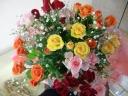 【花束】カラフルなミニバラのブーケ