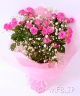 PINK・バレンタイン「ピンクバラの花束」