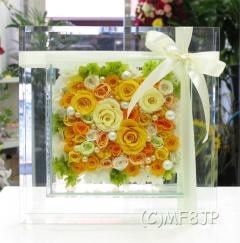 高級感漂う★ガラスフレーム★プリザーブドフラワー
