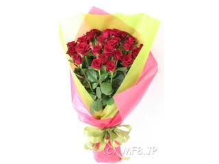 25本の赤いバラの花束