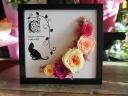 黒猫のアートフレーム