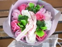 新感覚「シャボンフラワー」 バラブーケ ピンク