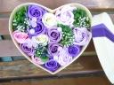 新感覚 シャボンフラワー ハートBOX バラ 紫