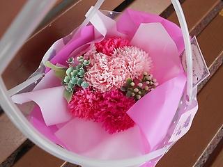 【新感覚】 シャボンフラワー ブーケ ピンク色