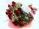 花束【スタンダードS021】赤バラとかすみ草