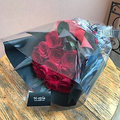 花束【赤バラ14本・Mサイズ】