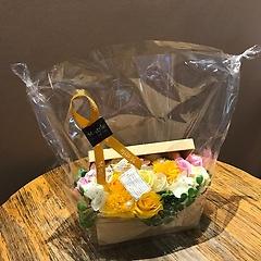 ソープフラワー【宝箱・オレンジイエロー】